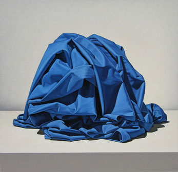 Tom Gregg, Blue Unknown, 2005, oil on panel, 28x29 inches