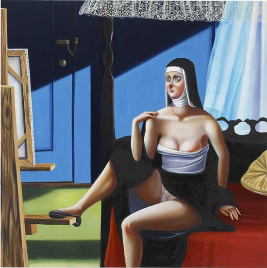 Jocelyn Hobbie, Nun Painter, 2005, oil on canvas, 54x54 inches