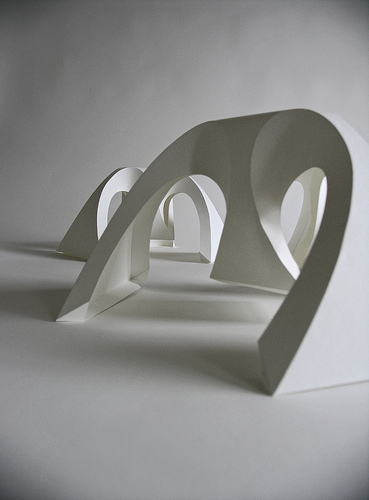 Richard Sweeney, Fractal Form II, 2006, folded paper