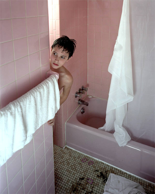 Carlos and Jason Sanchez, Pink Bathroom, 2001, digital c-print, 40x49 inches