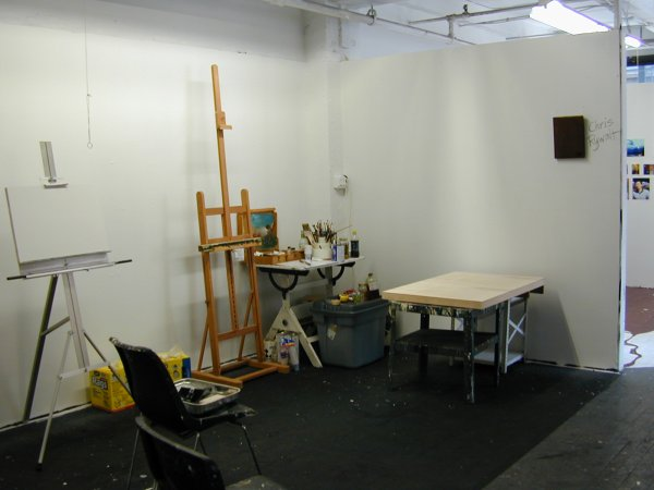 Chris Rywalt studio view 2007