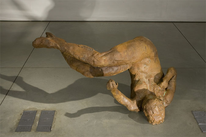 Eric Fischl, Ten Breaths: Tumbling Woman, 2007, resin, 48x48x44 inches