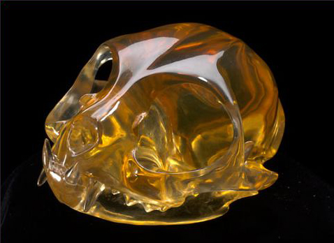 Laurel Roth, Lap of Luxury (Persian), 2007, carved industrial resin, walnut, Swarovski crystal, aluminum, 2.5x3.25x4 inches