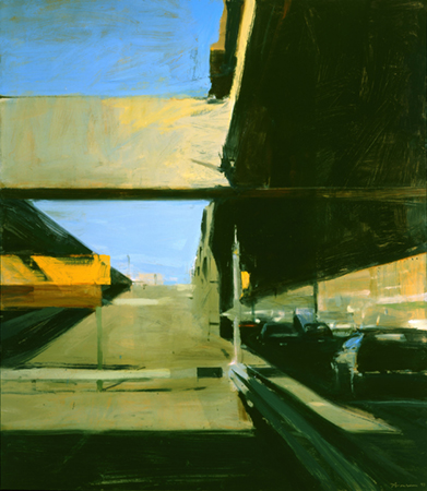 Ben Aronson, Closed Ramp, West Side Highway, 1997, oil on panel, 52x46 inches