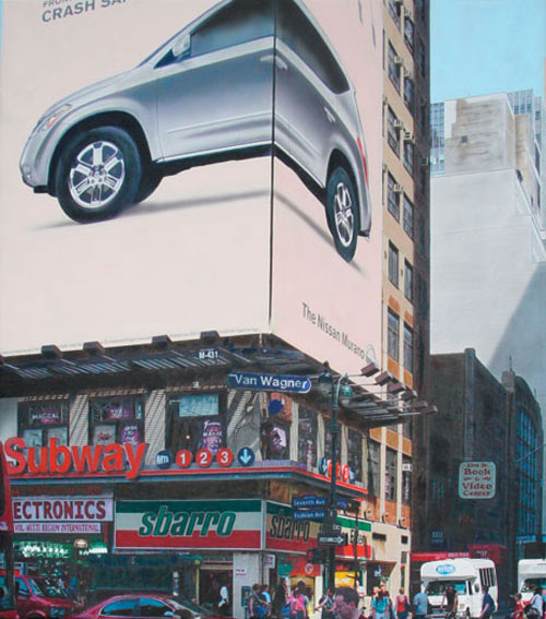 Denis Peterson, Fashion Avenue, 2008, acrylic on canvas, 36x32 inches