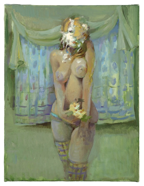 Lisa Yuskavage, Pied, 2008, oil on canvas, 11.75x9 inches