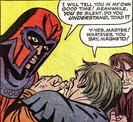 Magneto scolding Toad, probably by Jack Kirby