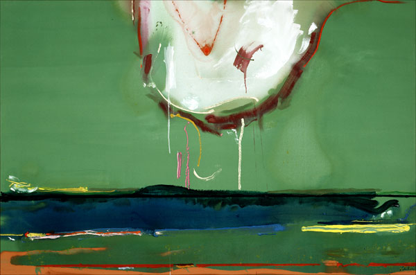 Helen Frankenthaler, High Spirits, 1988, acrylic on canvas, 65 3/4x98 3/8 inches