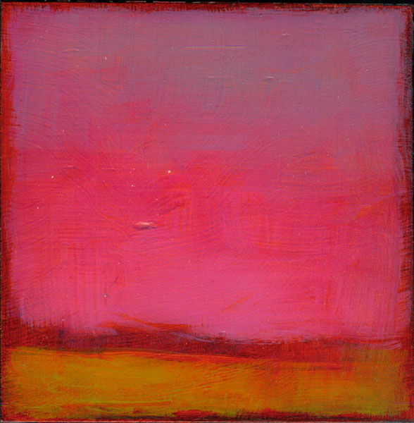 Tracy Helgeson, Horizon Lines (Eight), 2008, oil on panel, 4x4 inches